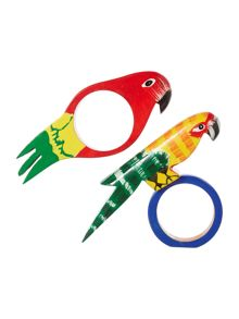 Linea Villa Vista Parrot Napkin Rings Set of 4