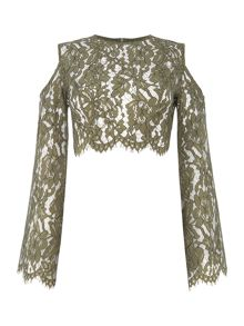 Keepsake Longsleeve Porcelain Lace Top