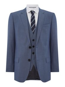 Hugo Huge Genius Slim Fit Woven Check Two Piece Suit