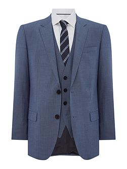 Huge Genius Woven Check Two Piece Suit