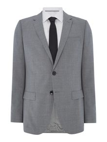 Hugo Harvey Getlin Slim Fit Micro Check Two Piece Suit