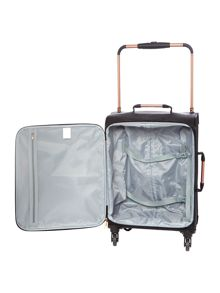 Linea Hexalite black 4 wheel soft cabin suitcase