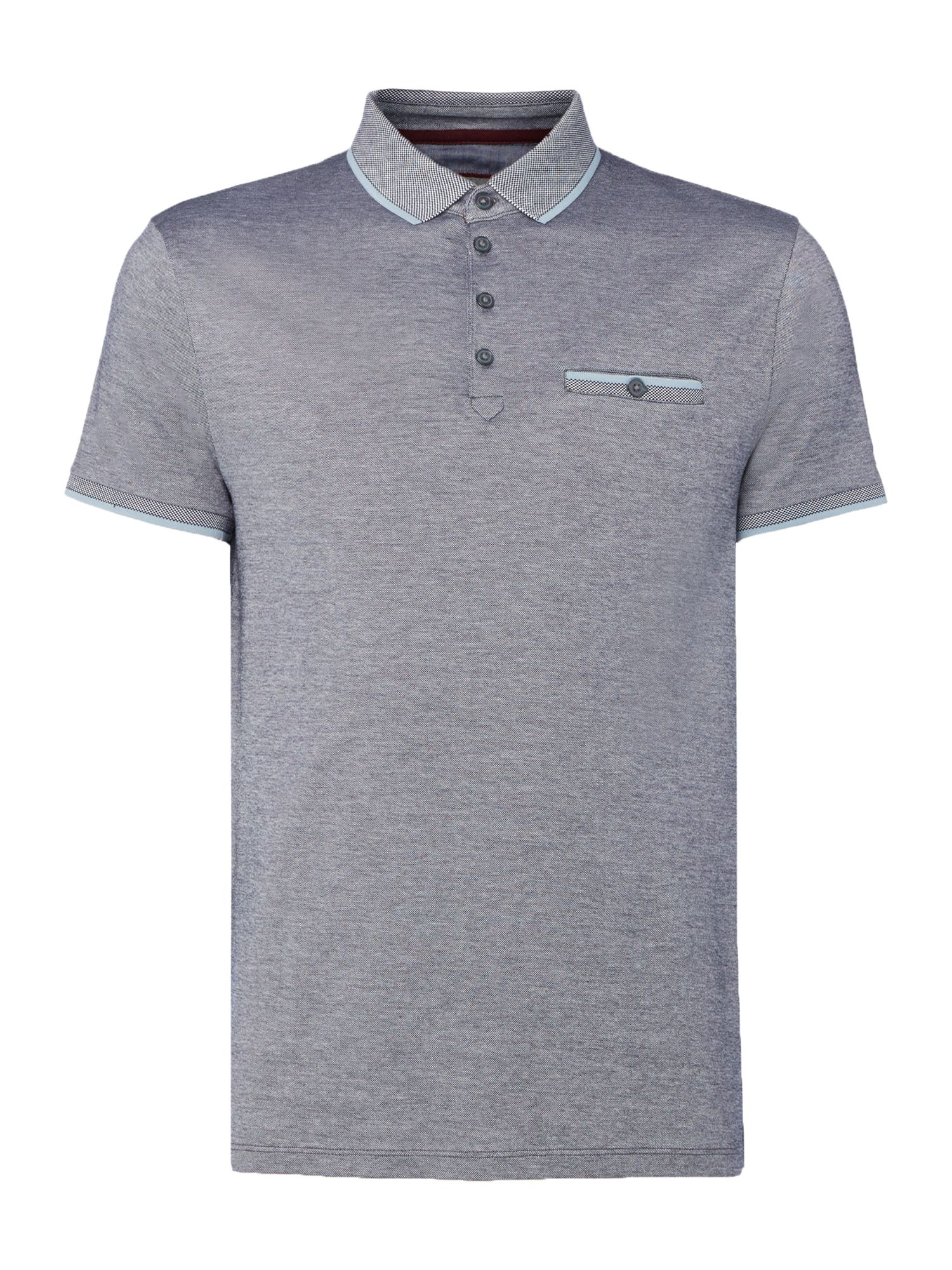 Men's Linea Islington Birdseye Polo Shirt, Blue