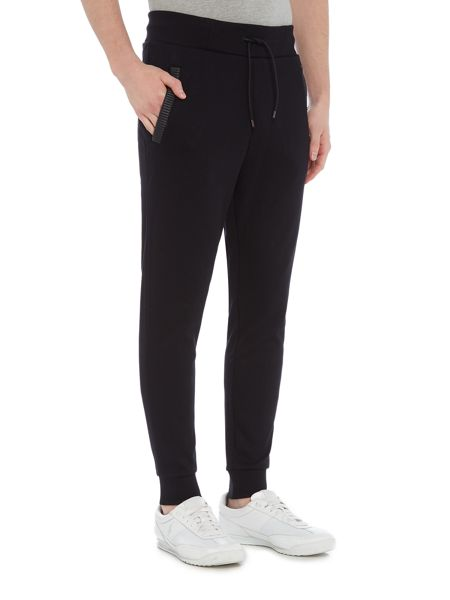Hugo Deapel Sweatpants With Leather Trim