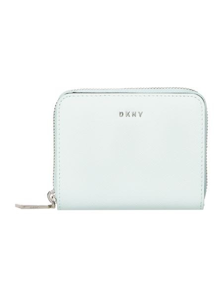 DKNY Saffiano small ziparound purse