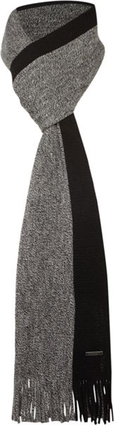 Hugo Boss Fador single stripe scarf
