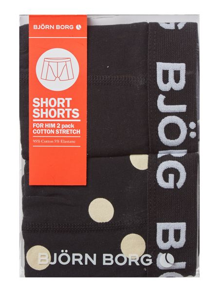 Bjorn Borg 2 Pack Dot and Solid Trunk
