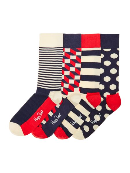 Happy Socks 4 Pack Multi Pattern Socks