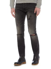 Denim and Supply Ralph Lauren Gibson slim dark grey jeans