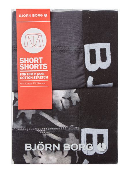 Bjorn Borg 2 Pack Blossom Print and Plain Trunk