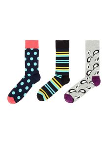 Happy Socks 3 Pack HS Big Dot Socks
