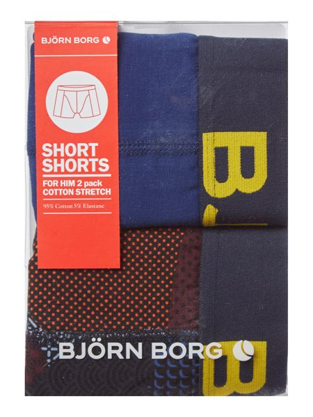 Bjorn Borg 2 Pack Contrast Camo and Plain Trunk