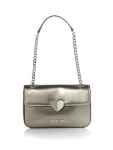 Love Moschino Patent small crossbody bag