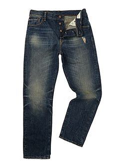 Davis Regular Dirty Mid Wash Jeans