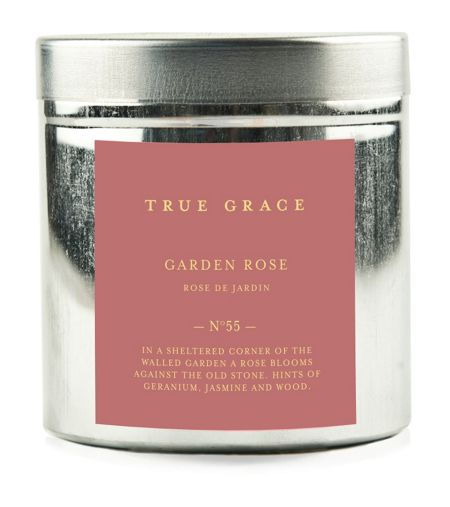 True Grace Walled garden tinned candle garden rose