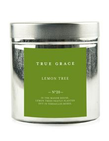 True Grace Walled garden tinned candle lemon tree