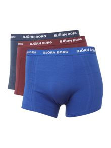 Bjorn Borg 3 Pack Solid Trunk