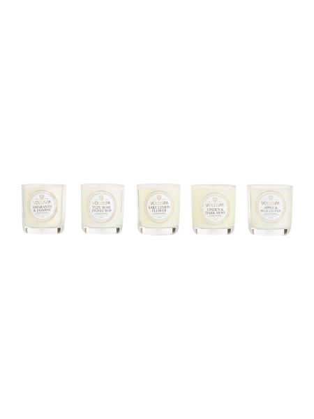 Voluspa Maison jardin collection votive candle set of 5