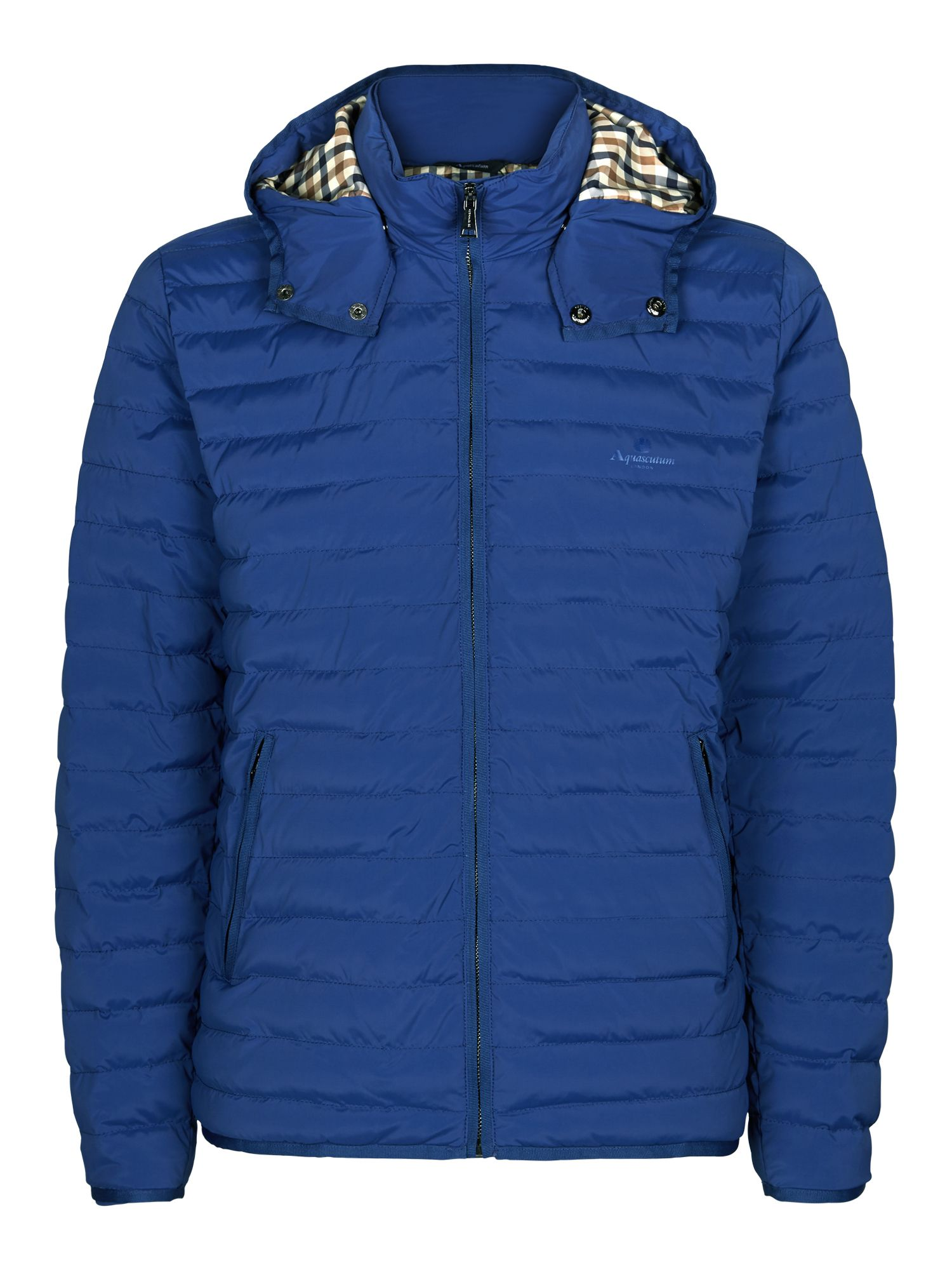 Mens Aquascutum Emmett Quilted Jacket Bright Blue