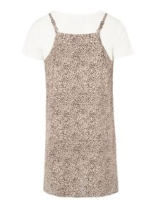 Bardot Junior Girls Short-Sleeve Leopard Dress