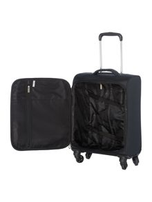 Linea Airlite black 4 wheel soft cabin suitcase