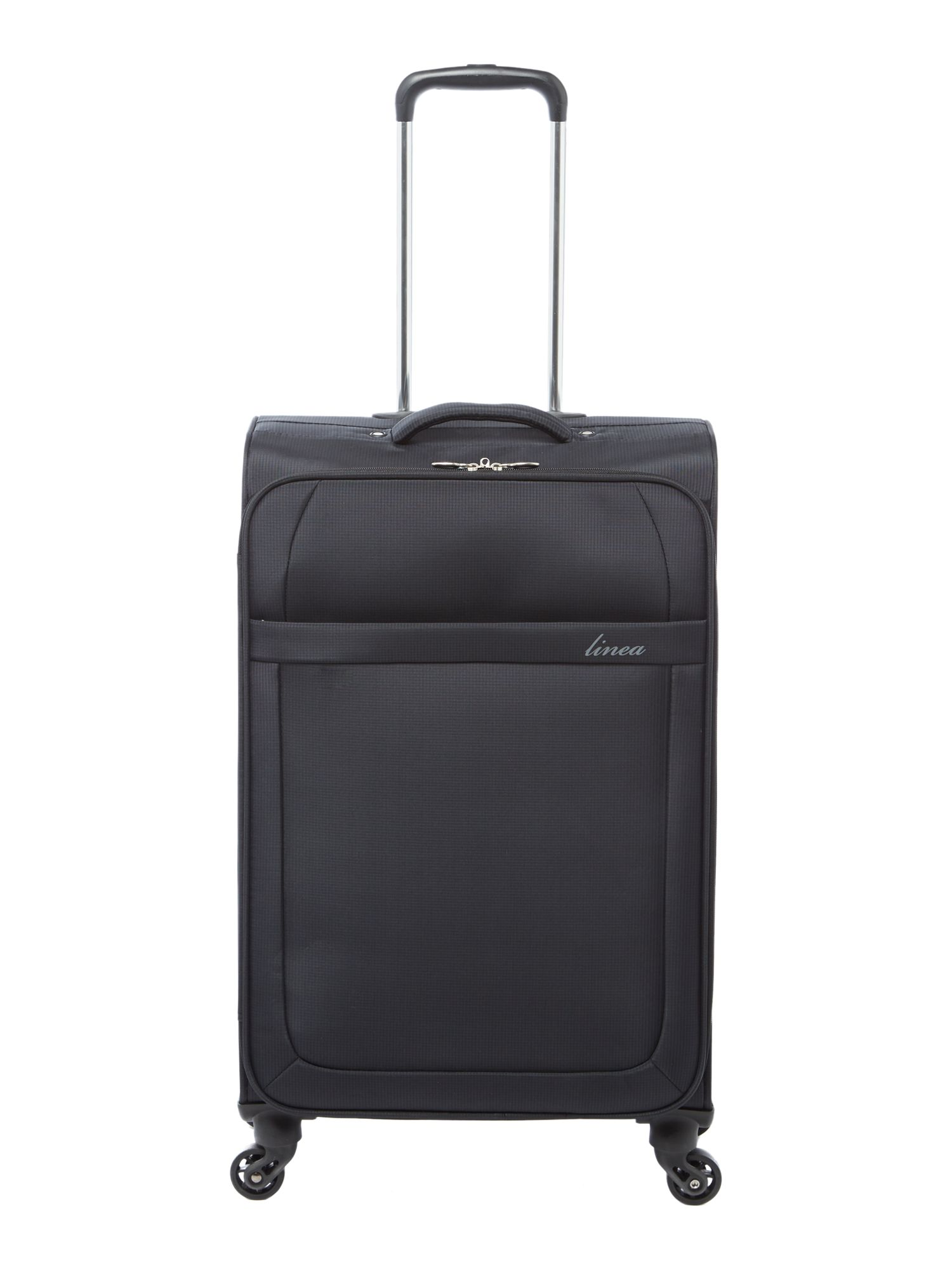 Linea Airlite black 4 wheel soft medium suitcase, Black