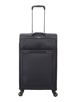 Airlite black 4 wheel soft medium suitcase