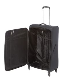 Linea Airlite black 4 wheel soft large suitcase