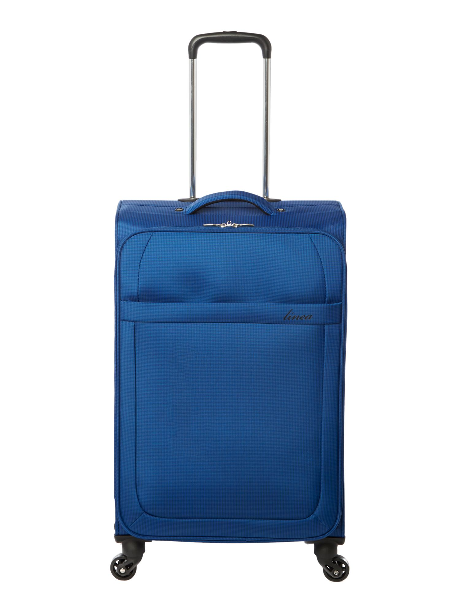 Linea Airlite black 4 wheel soft medium suitcase, Blue