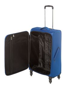 Linea Airlite black 4 wheel soft medium suitcase