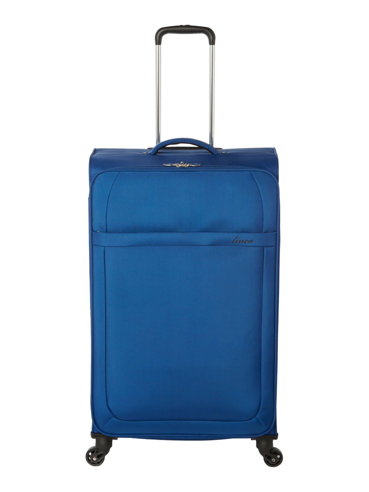 Linea Airlite black 4 wheel soft large suitcase, Blue