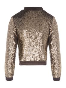 Bardot Junior Girls Sequinned Bomber Jacket