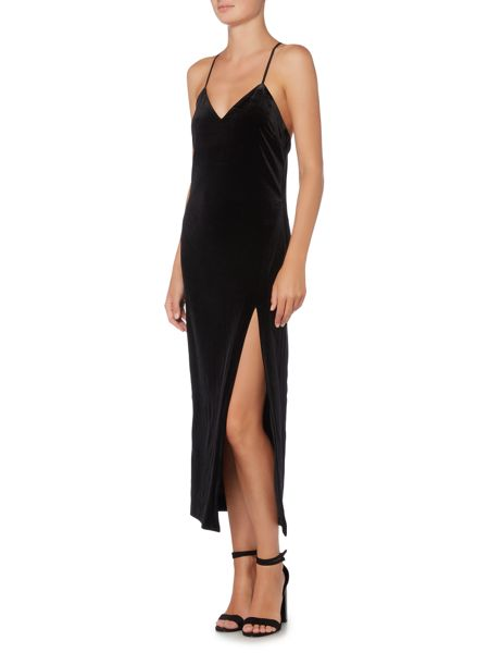 Bardot Sleeveless Velvet Slip Dress