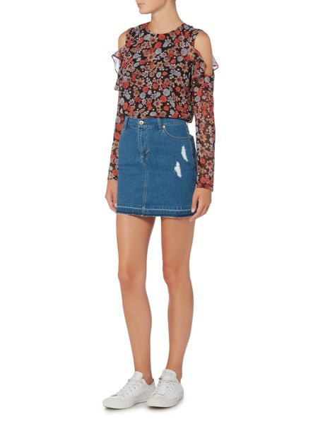 Bardot Denim Mini Skirt