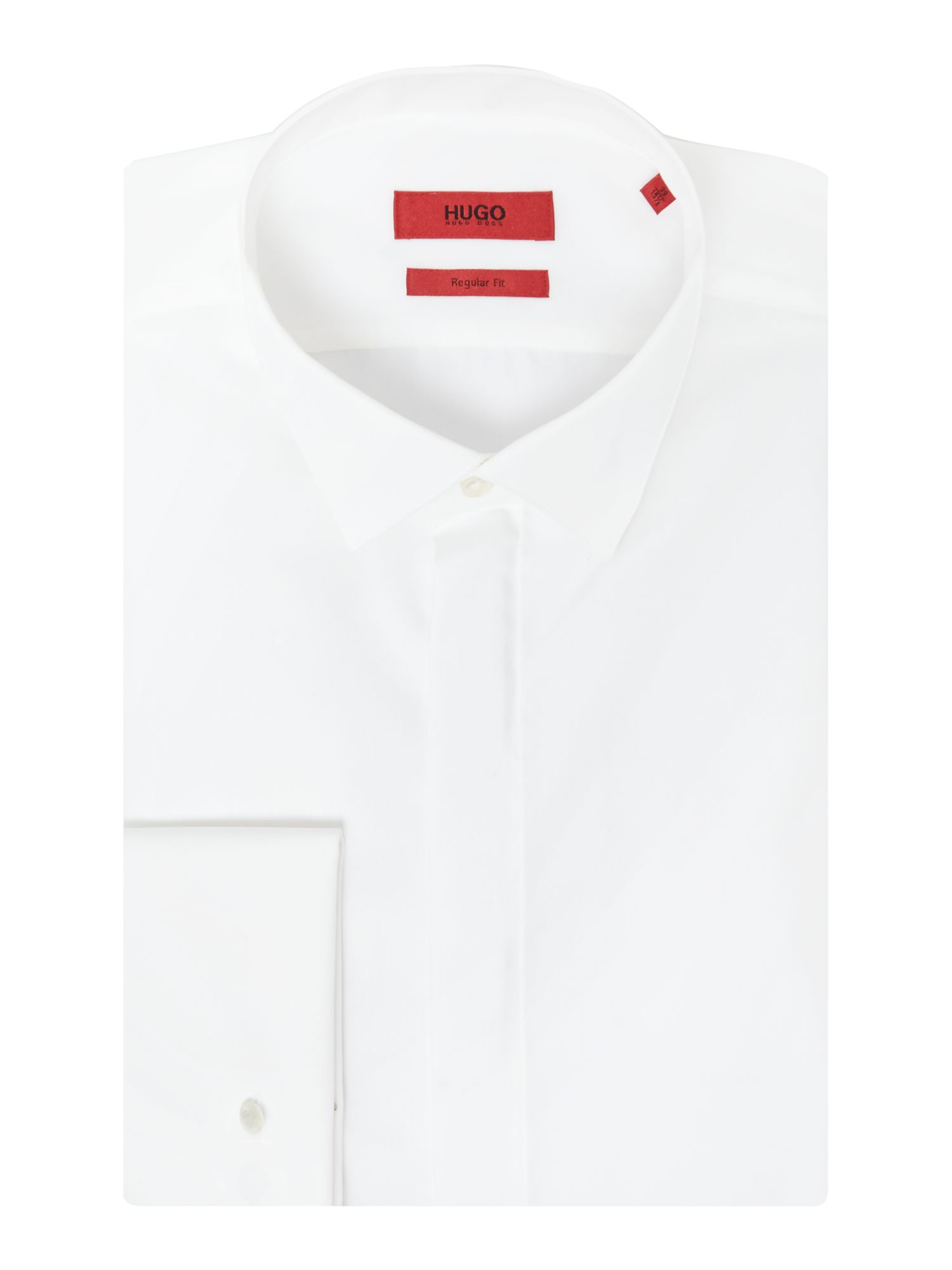 HUGO Men's Hugo Ewyn Regular Fit Winged Collar Shirt, White