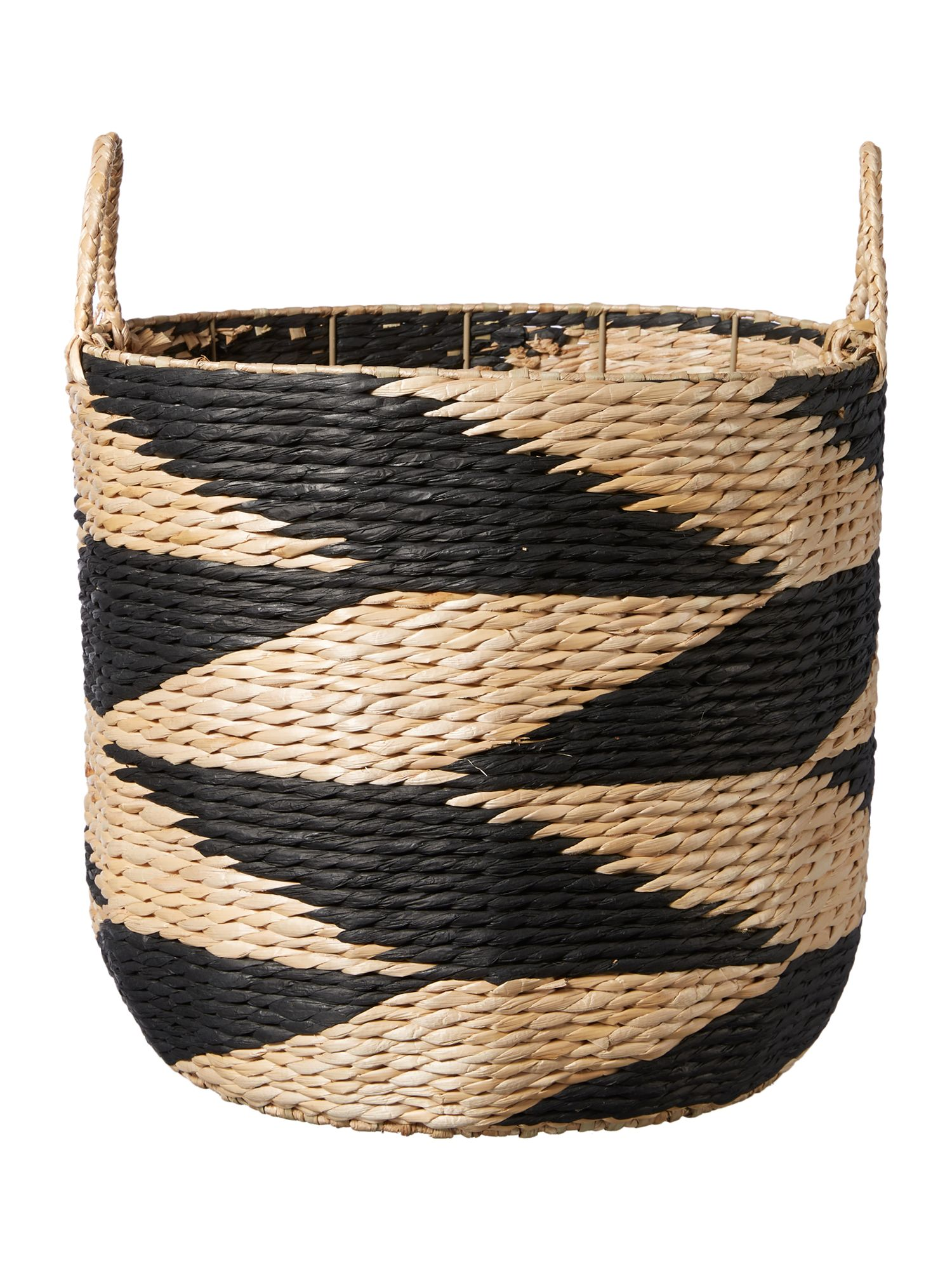 Living by Christiane Lemieux Living by Christiane Lemieux Black & natural rush large basket