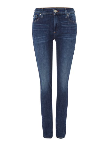 True Religion Halle mid rise super skinny in worn vintage