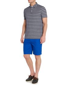 Howick Monroe Textured Stripe Short Sleeve Polo