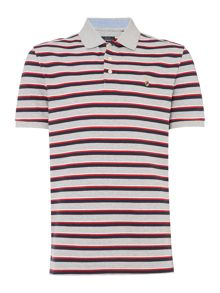 Howick Westport Stripe Short Sleeve Pique Polo
