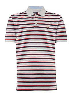 Westport Stripe Short Sleeve Pique Polo