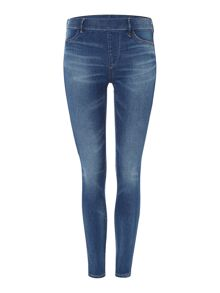 True Religion The runway legging in capri blue