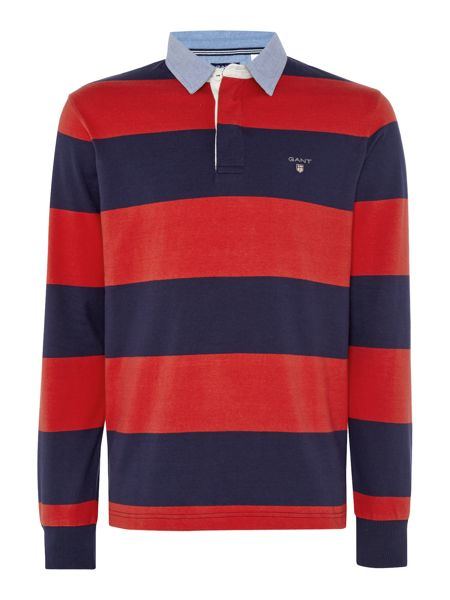 Gant Bar-Stripe Long-Sleeve Cotton Rugby Shirt