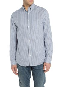 Gant Banker-Stripe Long-Sleeve Shirt