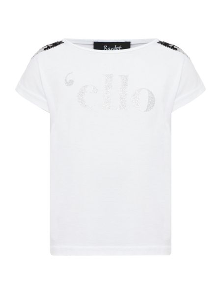 Bardot Junior Girls Sequinned Short Sleeve T-Shirt