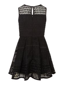 Bardot Junior Girls Mesh Panel Sleeveless Dress