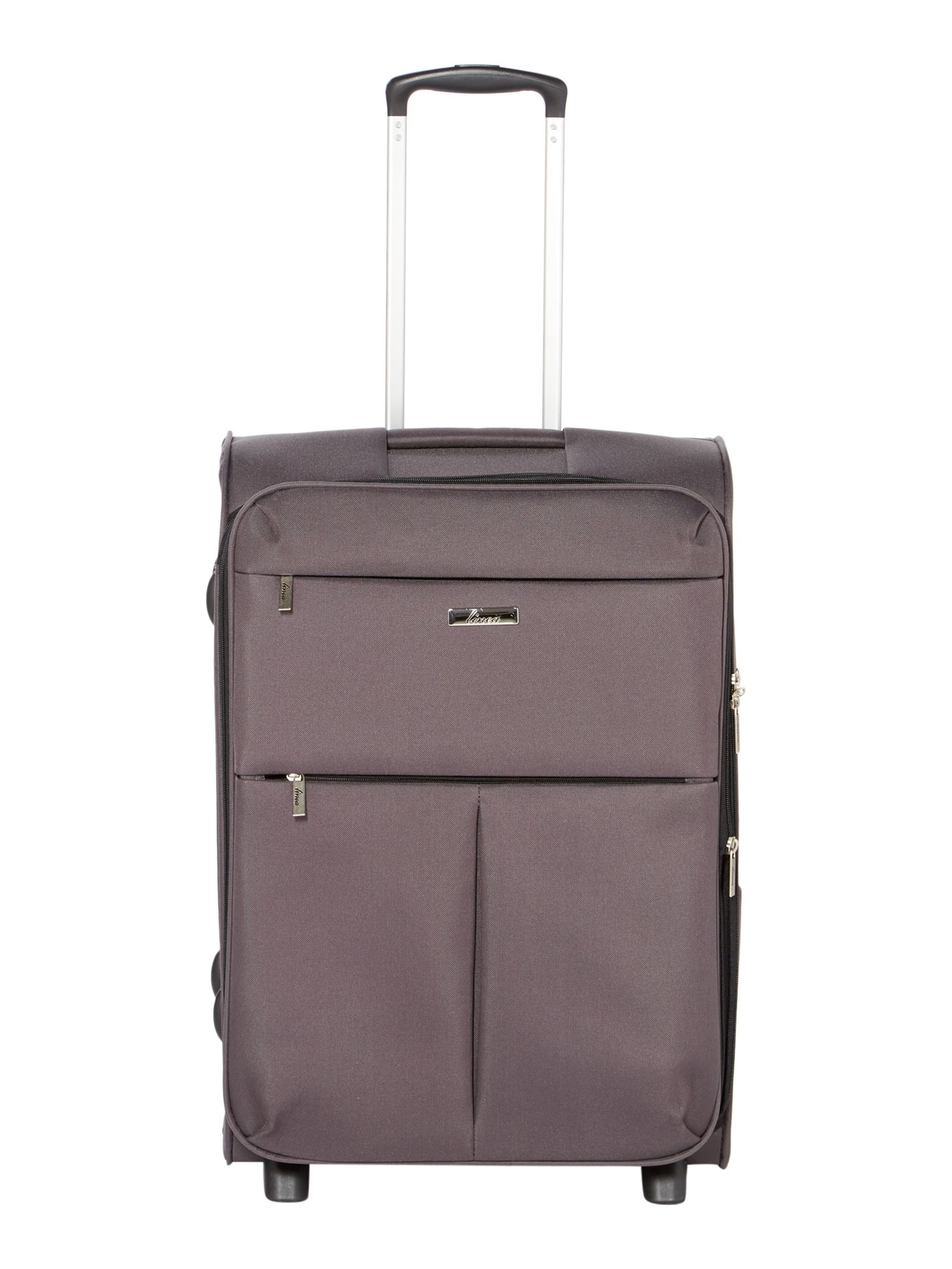Linea Cambridge charcoal 2 wheel soft medium suitcase Charcoal