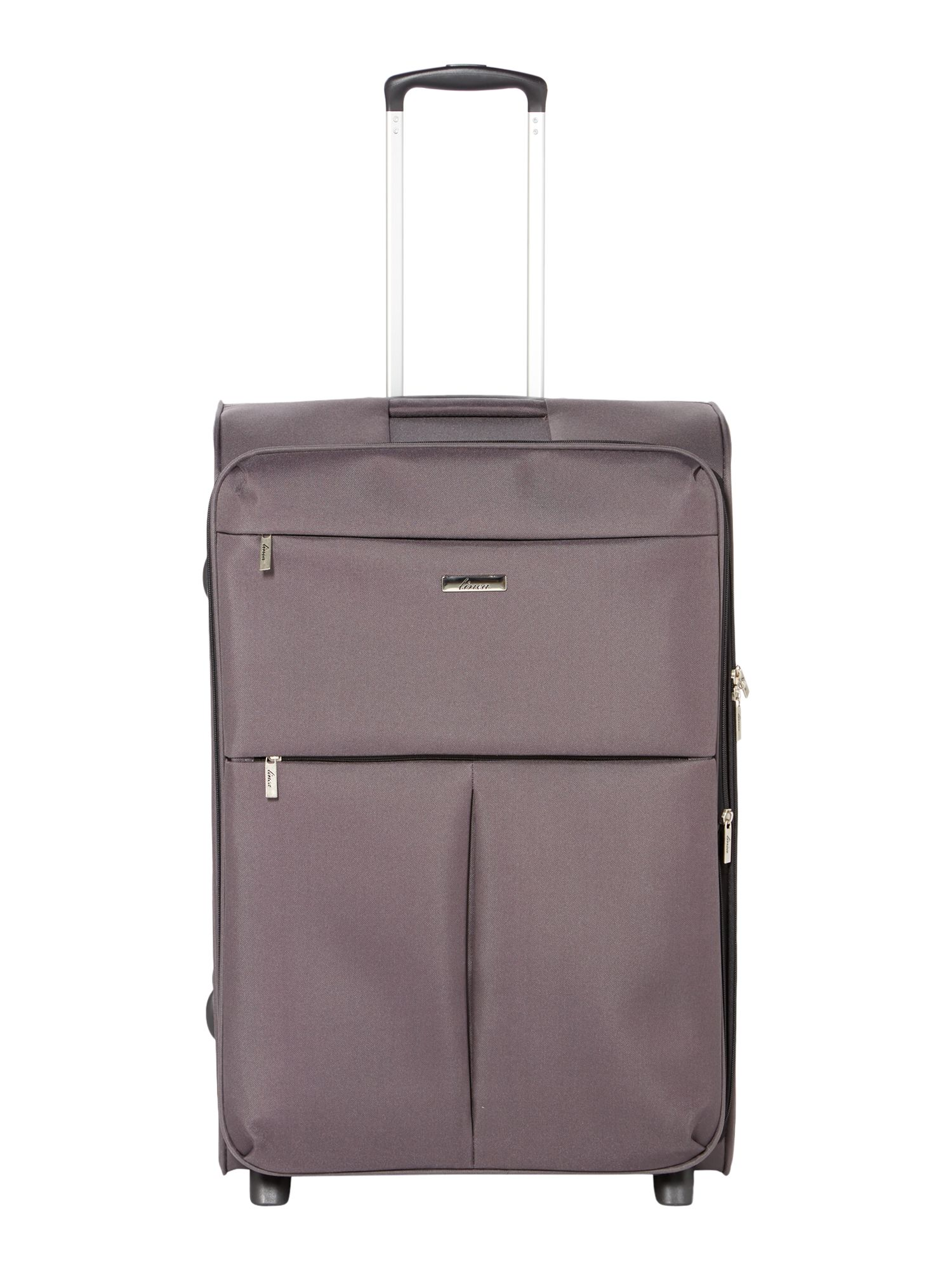 Linea Cambridge charcoal 2 wheel soft large suitcase Charcoal