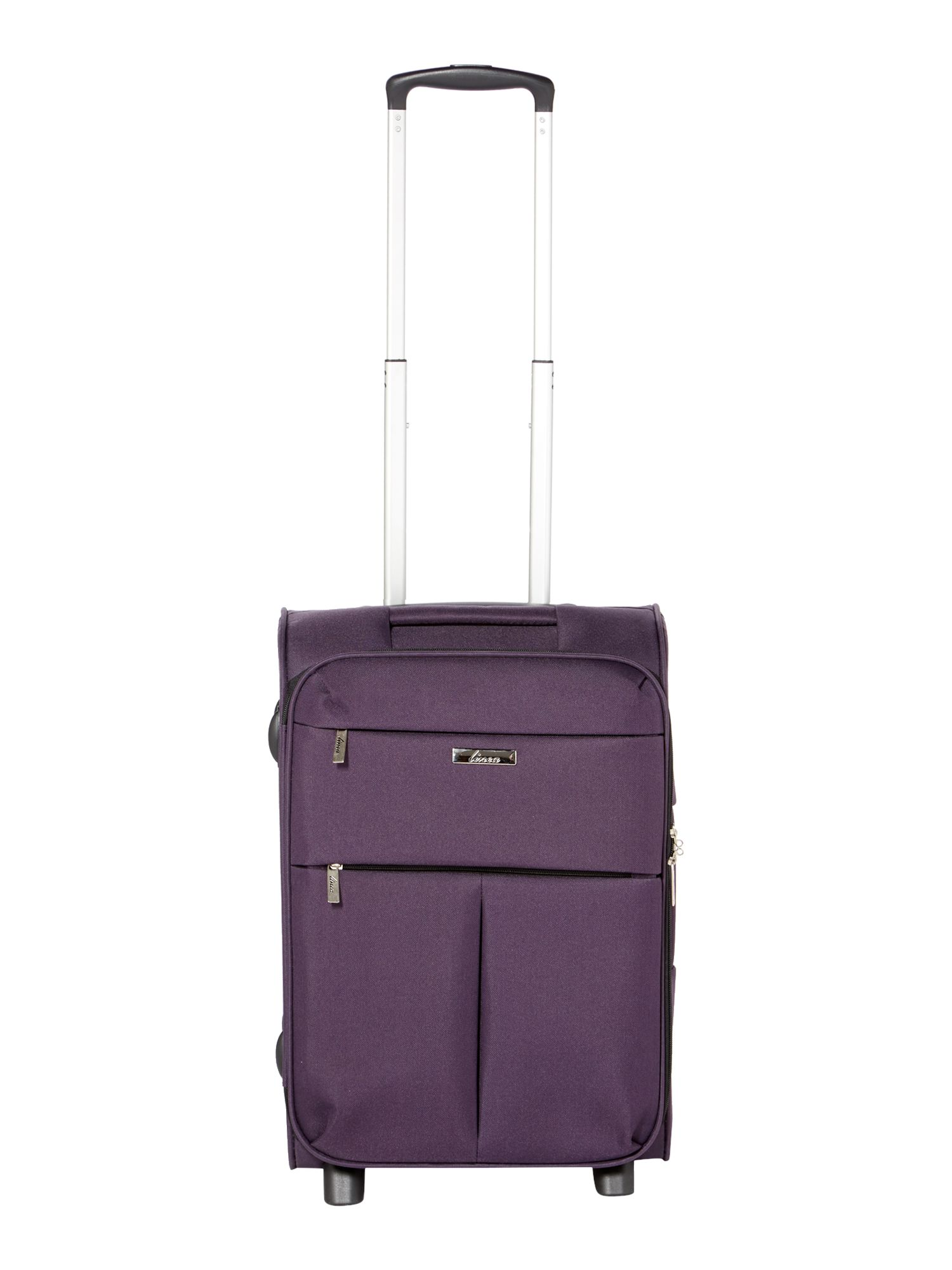 Linea Cambridge purple 2 wheel soft cabin suitcase Purple