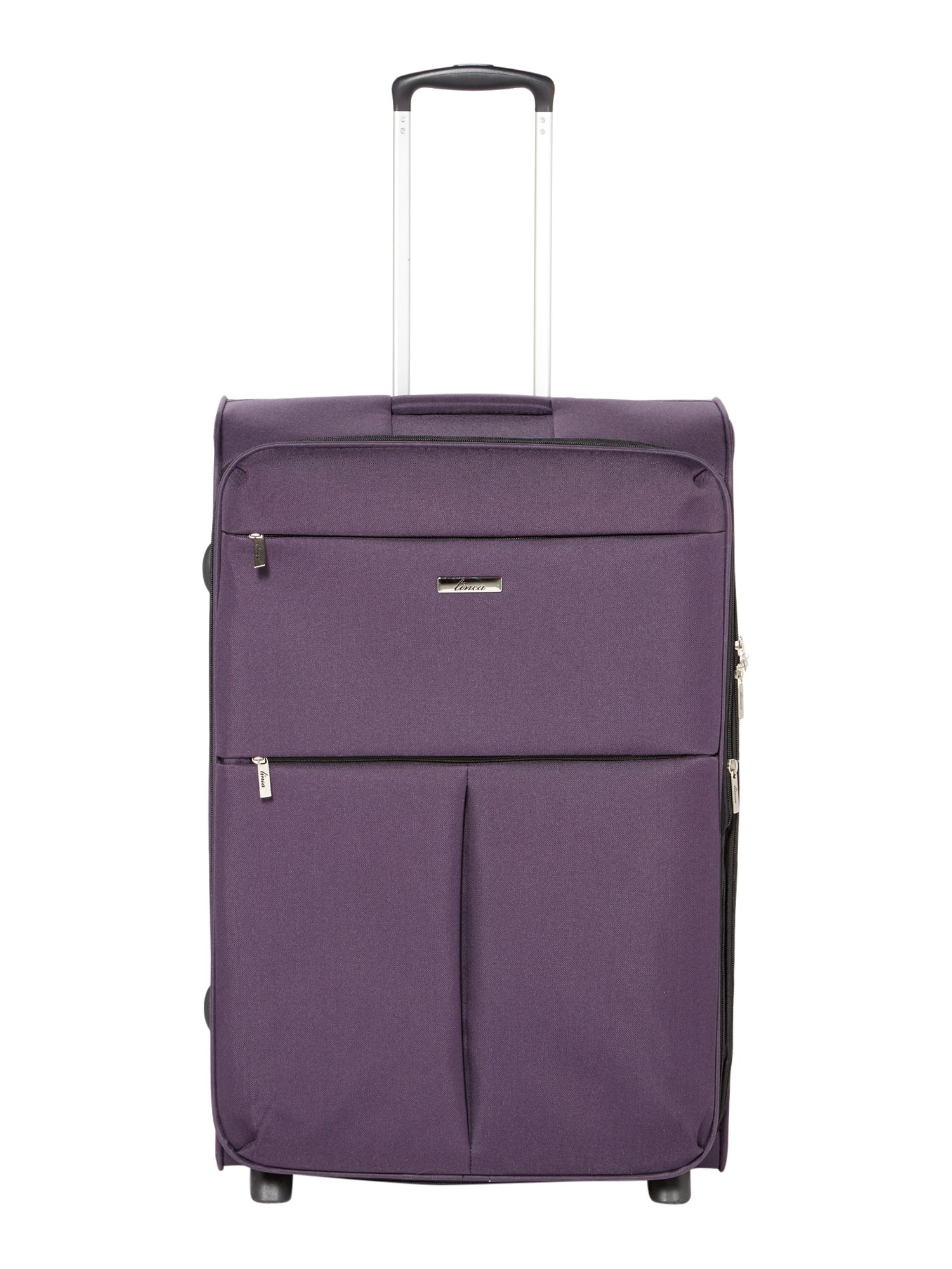Linea Cambridge purple 2 wheel soft large suitcase Purple