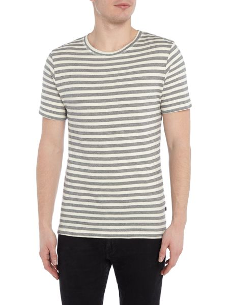 Only & Sons Stripe Crew-Neck Slim-Fit T-shirt